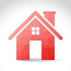 House symbol in polygons, illustration