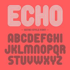 Retro style font, alphabet