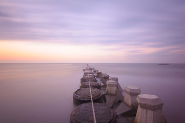 slow shutter seascape in Hsinchu, Taiwan
