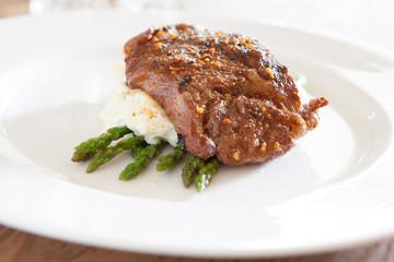 Steak and Asparagus