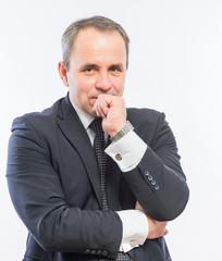Thoughtful businessman portrait