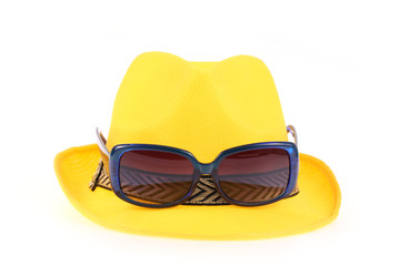 Yellow hat and Sunglasses