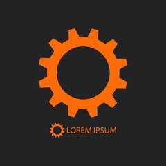 Orange gear wheel