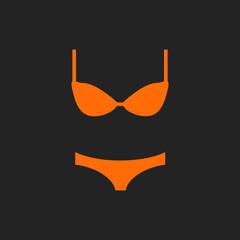 Orange lingerie on black