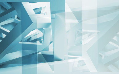 Abstract 3d illustration background with chaotic construction