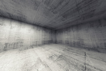 Empty room, abstract concrete 3d interior