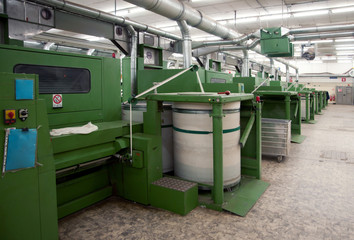 Textile industry - Carding department