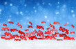 canvas print picture - christmas snowfall sales