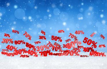 christmas snowfall sales