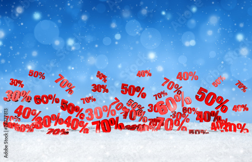 canvas print picture christmas snowfall sales