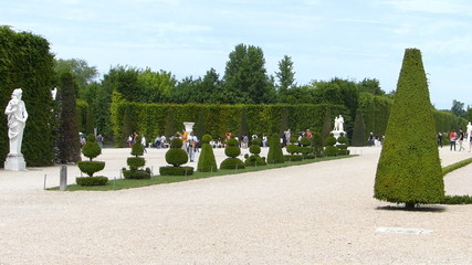 Statues and Sculpture in the Versailles Park in France