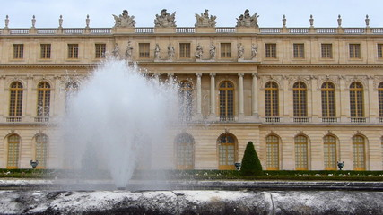 The Palace of Versailles and Fountain, Paris France