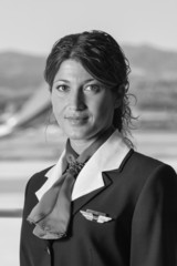 Italy, Sardinia, Olbia International Airport, flight stewardess