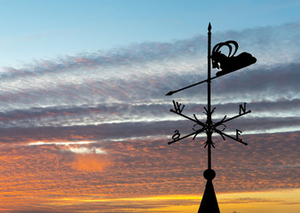 Weather vane is instrument showing direction of wind