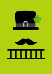 Abstract Chimney Sweeper Horseshoe Green