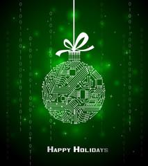 Hi-tech Christmas background