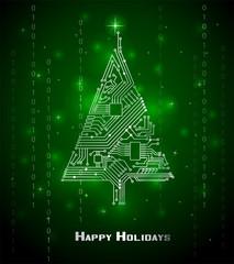 Hi-tech Christmas tree