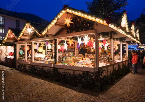 Leinwandbild Motiv Weihnachtsmarkt in Deutschland