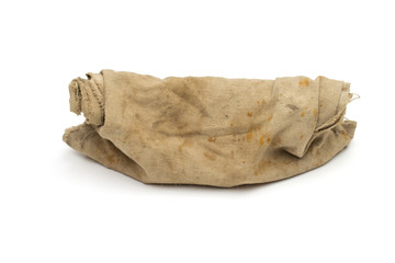 rag bag on the white background