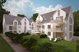 Mehrfamilienhaus im Sonnenlicht