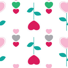 vector seamless pattern hearts