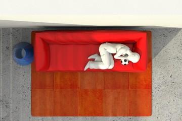 Arredo 3D divano e riposo