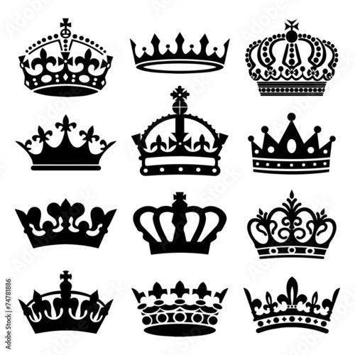 Zdjęcia na płótnie, fototapety, obrazy : Crown Icons Set