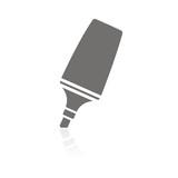 Icono rotulador fluorescente FB reflejo