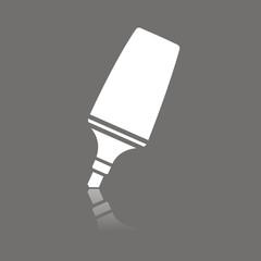 Icono rotulador fluorescente FO reflejo