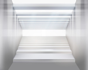 Stairs. Vector illustration.