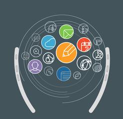 Information transfer scheme. Design elements