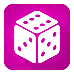 casino violet flat icon, christmas button, hazard sign