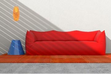 Arredo 3D divano e vaso