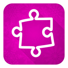 puzzle violet flat icon, christmas button