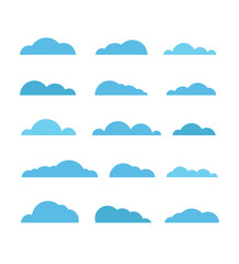 Different abstract clouds collection. Design elements