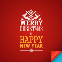 Merry Christmas and a happy New Year greeting card. Design templ