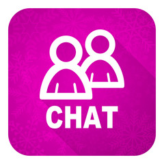 chat violet flat icon, christmas button
