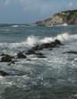 canvas print picture - Küste von Ischia