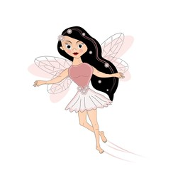 Pink flying fairy