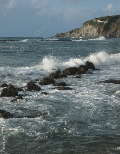 canvas print picture Küste von Ischia