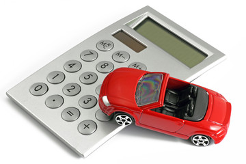 auto mit taschenrechner
