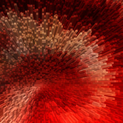 Abstract red textured background. 3D effect.