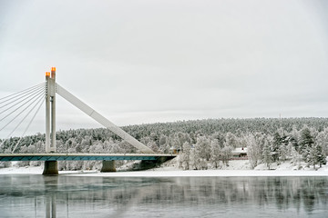 Candle of raftsman bridge in City of Rovaniemi