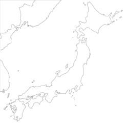 Japanisches Meer in weiß