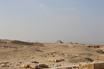 Pyramids of Egypt.