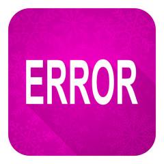 error violet flat icon, christmas button
