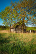 Russian Antique Wooden Village House In Russia In Summer, Spring