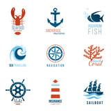 sea theme logo templates
