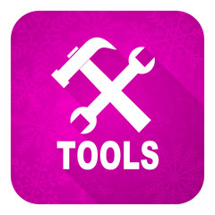 tools violet flat icon, christmas button