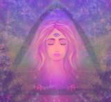 Woman with third eye, psychic supernatural senses poster